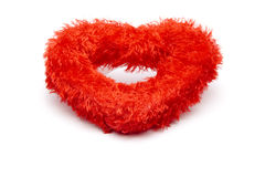 Red material heart Stock Photo