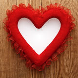 Red material love heart Stock Photos