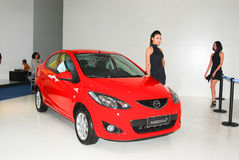 Red Mazda Stock Photography