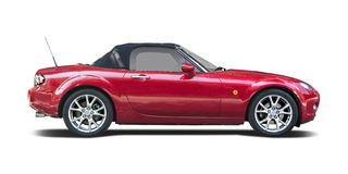 Red Mazda MX5 Stock Photo