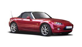 Red Mazda MX5 Royalty Free Stock Photos