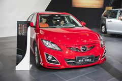 Red mazda6 rui wing car Stock Photography
