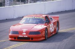 A red Mazda Trans AM in the Toyota Grand Prix Car Race Long Beach, CA Royalty Free Stock Image