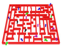 Red maze Royalty Free Stock Images