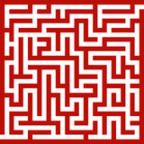 Red maze Stock Image