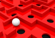 The red maze. 3d generated picture of a red maze vector illustration
