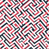 Red maze pattern Stock Photo