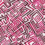 Red maze seamless pattern Royalty Free Stock Photography
