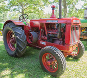Red McCormick-Deering Farm Tractor. A view of an antique  McCormick-Deering tractor displayed at an Illinois tractor show Royalty Free Stock Images