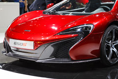 Red McLaren 650s Geneva Motor Show 2015 Stock Images