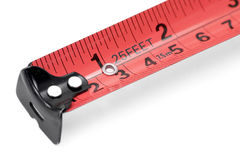 Red measuring tape Royalty Free Stock Photography