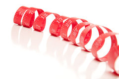 Red Measuring Tape on White Royalty Free Stock Images
