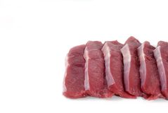 Red meat.. Fillets of veal on a white background Stock Photography