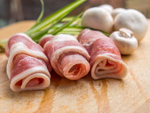 Row of bacon Stock Images