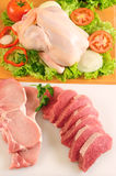 Red meat and chicken Stock Photo