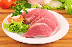 Red meat and chicken Royalty Free Stock Image