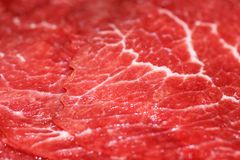 Red meat close-up. Macro shot of raw red meat ready for chinese fondue Stock Photos