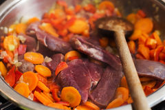 Red Meat Ready for Cooking Stock Images