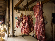 Red meat sell store in local market photo taken in bogor indonesia Royalty Free Stock Photography