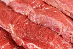 Meat texture. Red meat texture close-up Royalty Free Stock Photo