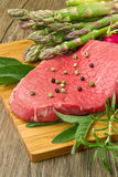 Red meat with vegetables Royalty Free Stock Photography