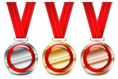 Red medal collection Royalty Free Stock Images