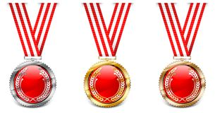 Red medals Royalty Free Stock Photo