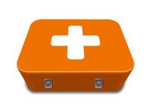 Red medical box kit sign royalty free stock image