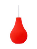Red medical enema.Isolated. Stock Image