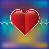 Red medical heart icon. Royalty Free Stock Photos