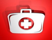 Red medical kit. Creative design of red medical kit Royalty Free Stock Photo