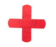 Red medical patch isolated on white Royalty Free Stock Images