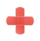 Red medical patch Stock Photos