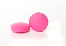 Red medical  pills . Stock Photos
