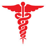 Red medical sign Stock Photos