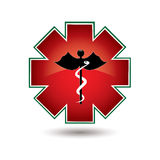 Red medical symbol isolated Royalty Free Stock Photos