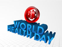 Red medical symbol for World Health Day concept. Stock Image