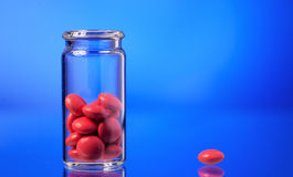 Red medicaments Stock Photos
