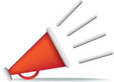 Red megaphone Stock Photography