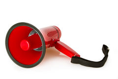 Red megaphone Stock Image
