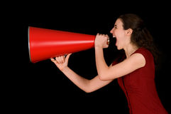 Red Megaphone Stock Photos