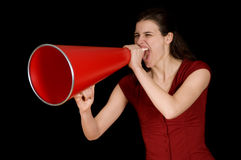 Red Megaphone Stock Images