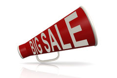 Red megaphone with big sale word Royalty Free Stock Image