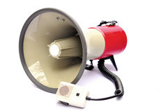 Red megaphone Royalty Free Stock Photo