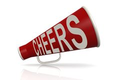 Red megaphone with cheer word Royalty Free Stock Photos