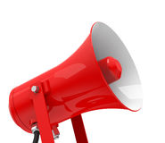 The red megaphone. 3d generated picture of a red megaphone royalty free illustration