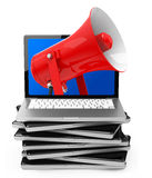 The red megaphone Royalty Free Stock Photography