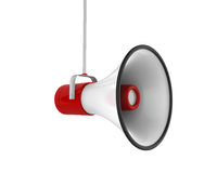 Red Megaphone Isolated Royalty Free Stock Photography