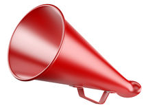 Red Megaphone  isolated on a white. Stock Images