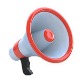 Red megaphone or loudspeaker Royalty Free Stock Image